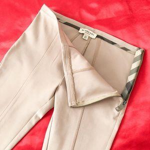 Burberry Tan paneled leggings